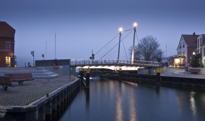 Drehbrücke über den Malchower See in Malchow